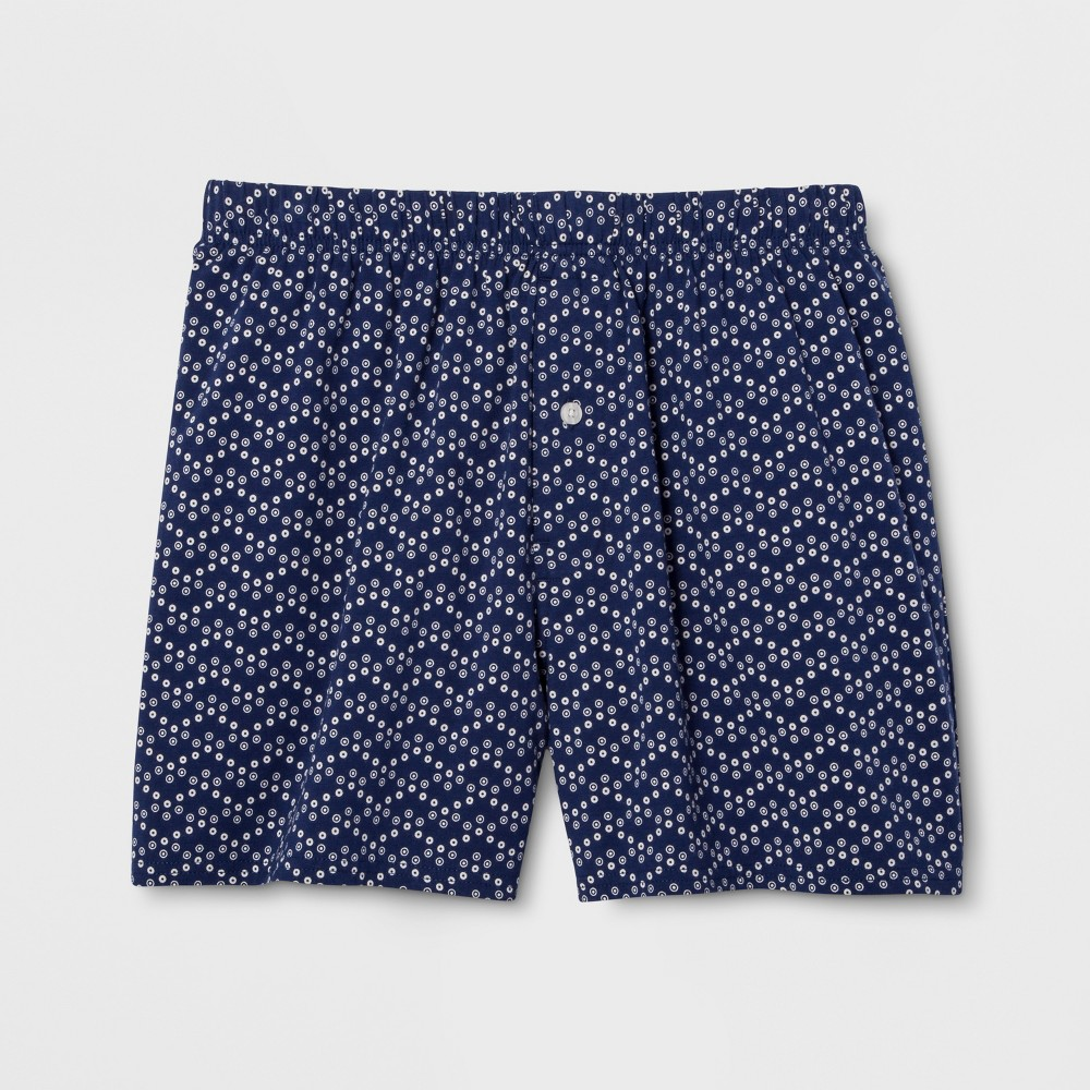 Mens Knit Boxer Shorts - Goodfellow & Co Blue Dot M