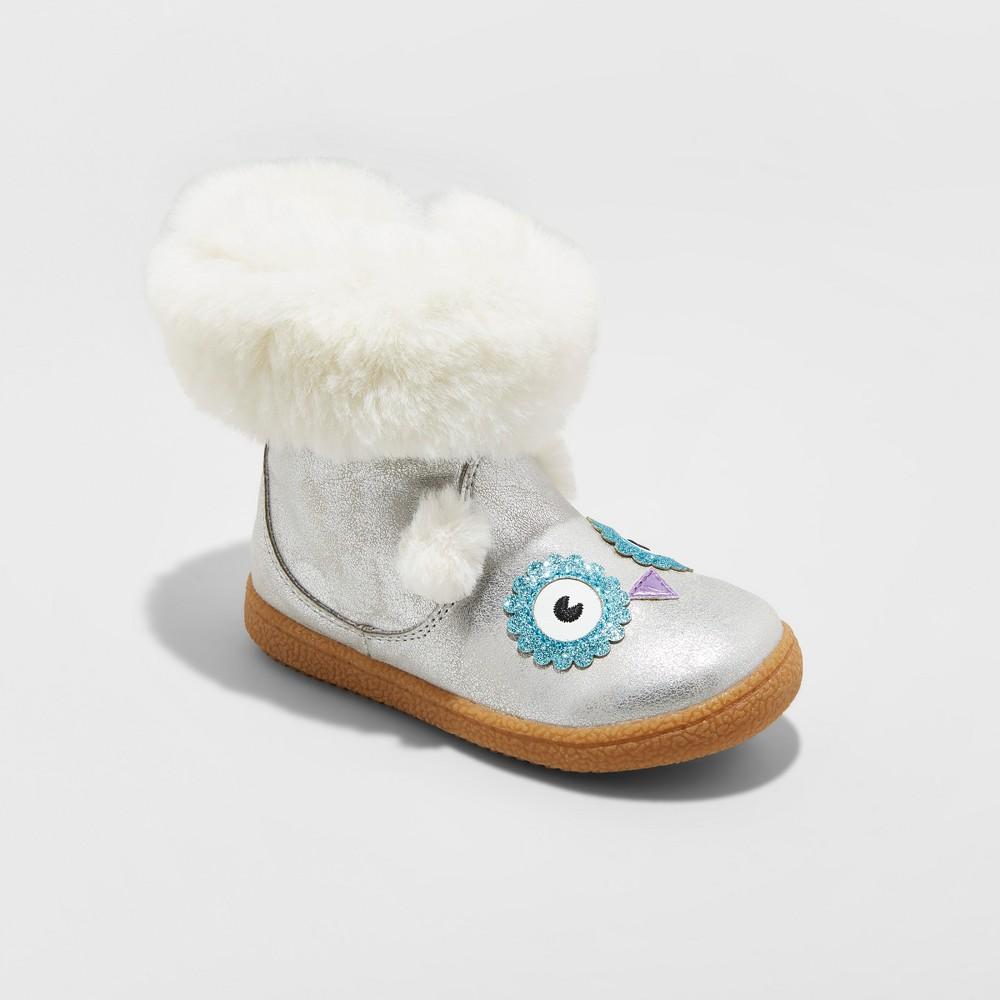 Toddler Girls Tallis Fashion Boots Cat & Jack - Silver 10
