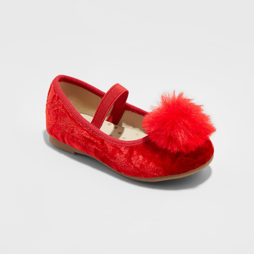 Toddler Girls Kat Ballet Flats Cat & Jack - Red 10
