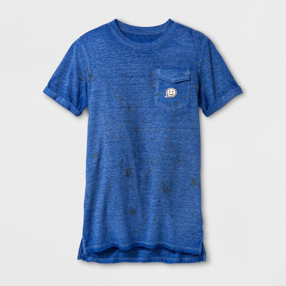 Boys Splatter Short Sleeve T-Shirt - Art Class Blue XS