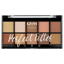 NYX Professional Makeup Perfect Filter Eyeshadow Palette - 0.6oz