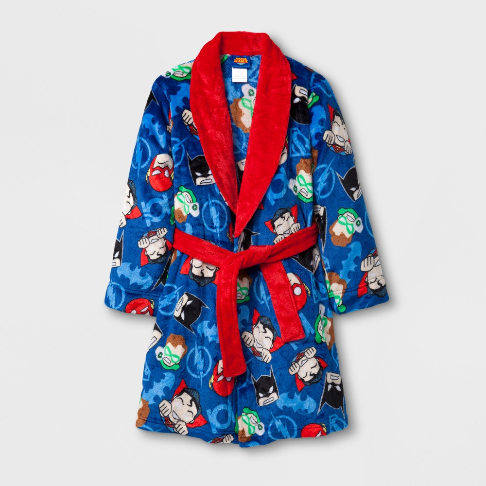 Toddler Boys DC Comics Justice League Robe - Navy XS, Blue