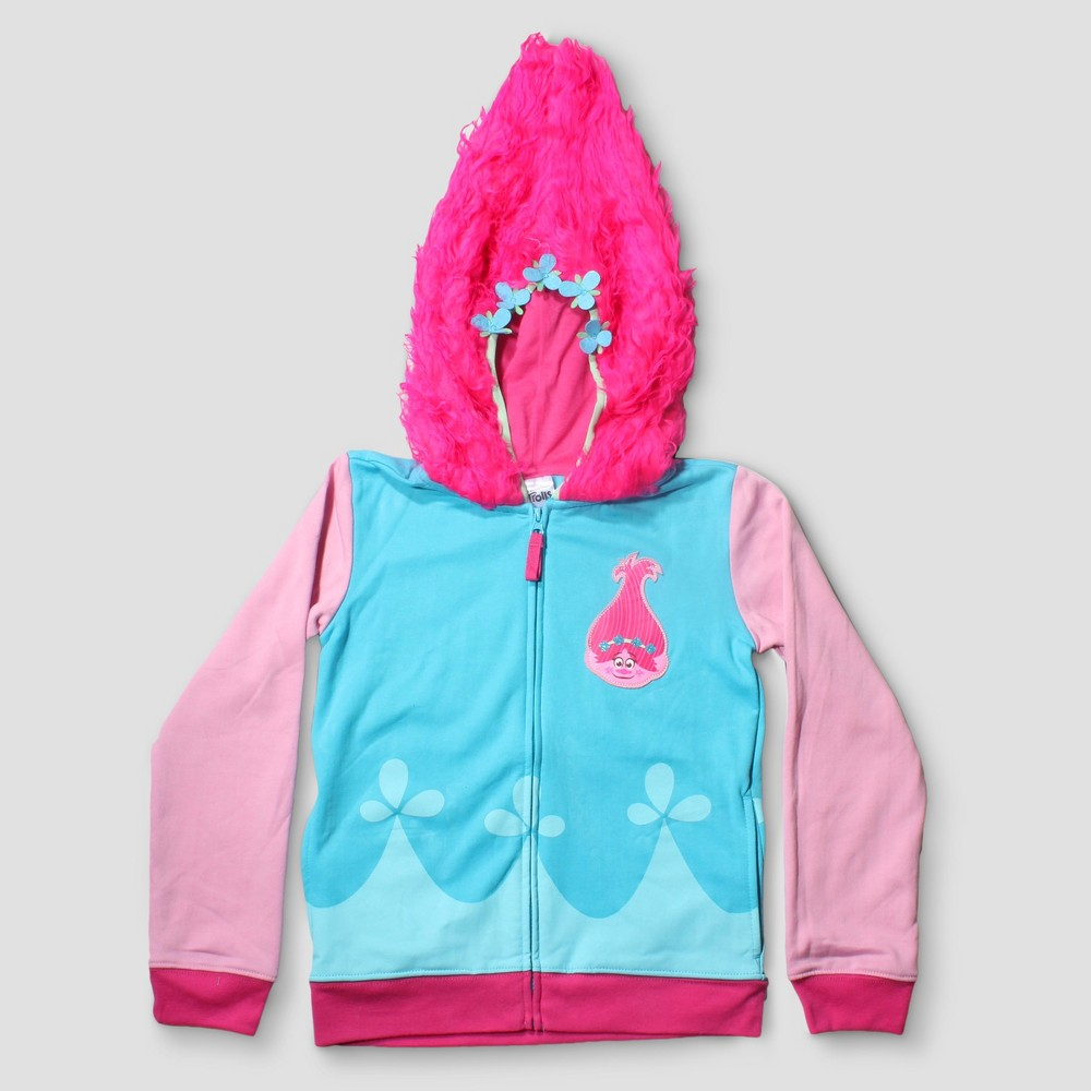 Girls Trolls Poppy Sweatshirt - Blue - M (7-8)