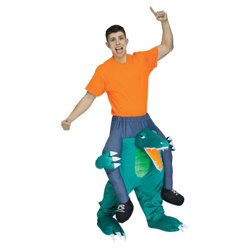 Adult Ride a Gator Costume, Adult Unisex, Multi-Colored