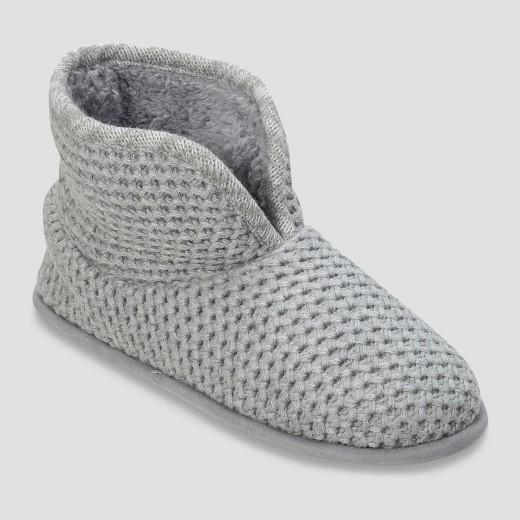 Women\'s dluxe by dearfoams Tiara Honeycomb Knit Bootie Slippers ...