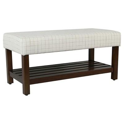 Decorative Bench With Storage   HomePop