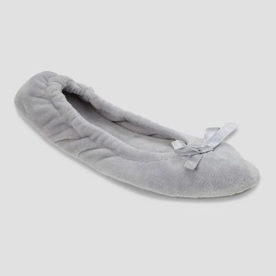 Ballet Slippers dluxe by dearfoams Gray L (9-10)