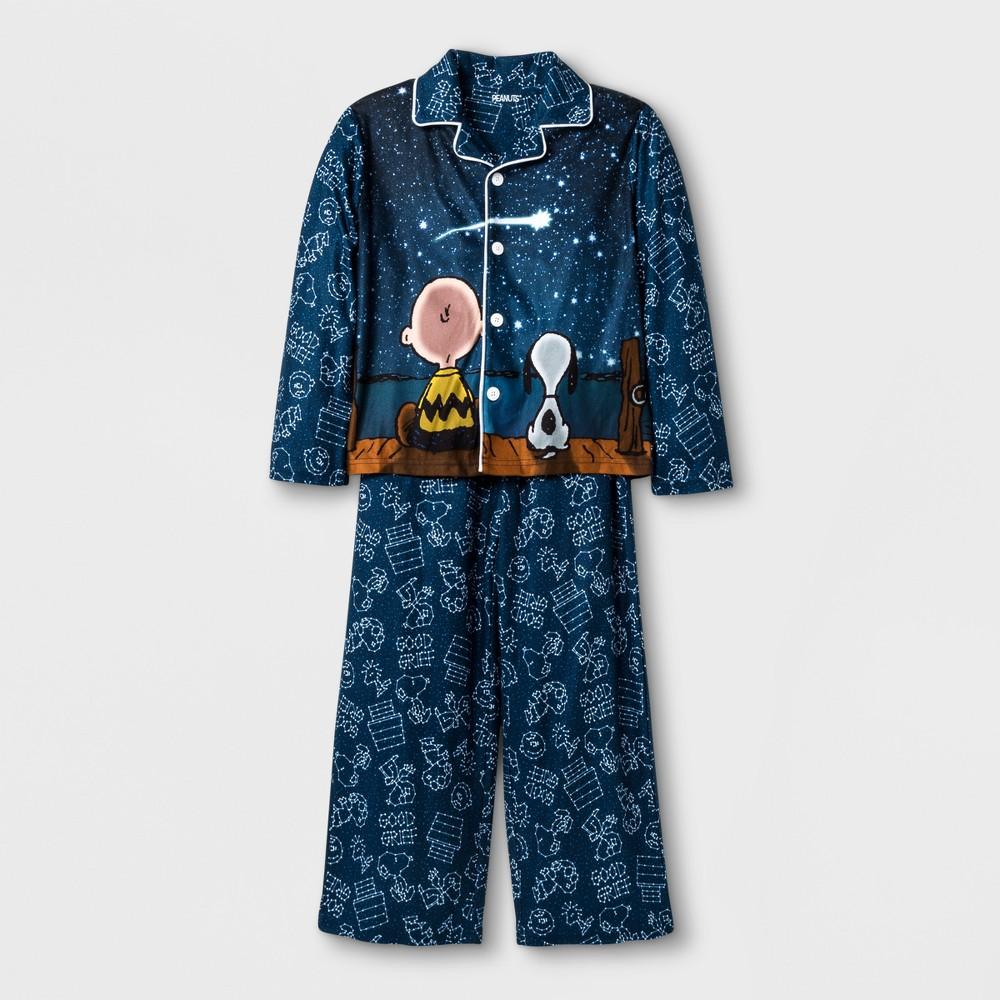 Toddler Boys Peanuts Constellation Pajama Set - Navy S, Blue
