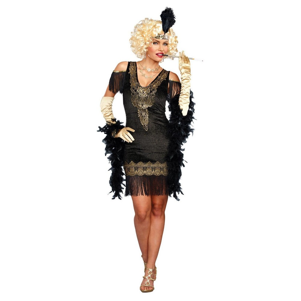 Womens Swanky Flapper Dress Adult Costume X-Large, Size: XL, Multicolored