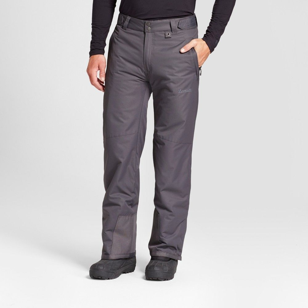 Mens Snow Pants - Zermatt Gray L