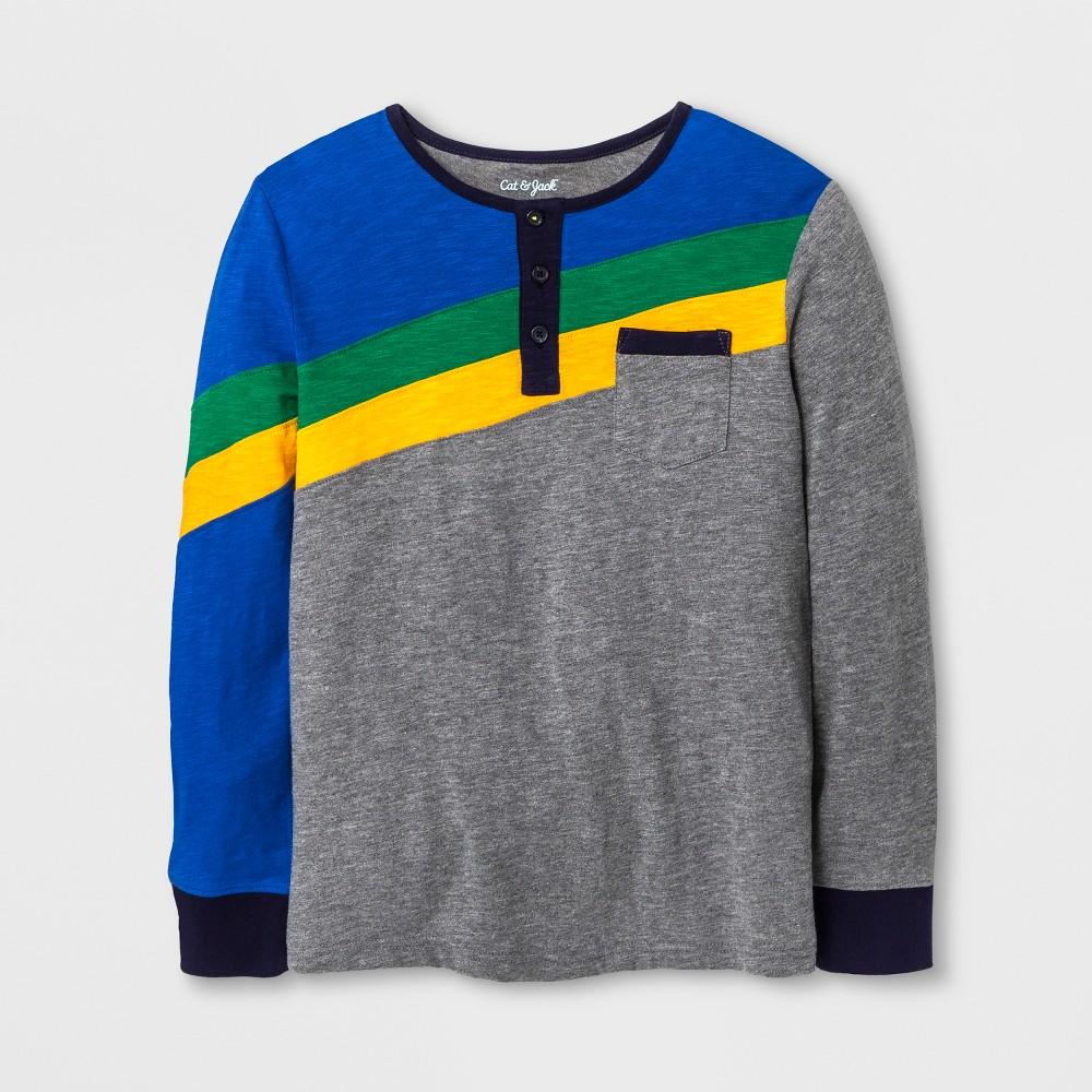 Boys Long Sleeve Henley Shirt - Cat & Jack Rainbow M, Multicolored