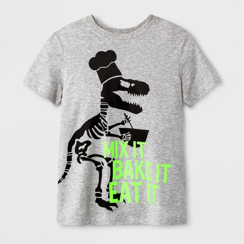 Boys Short Sleeve T-Shirt - Cat & Jack Gray Dino L