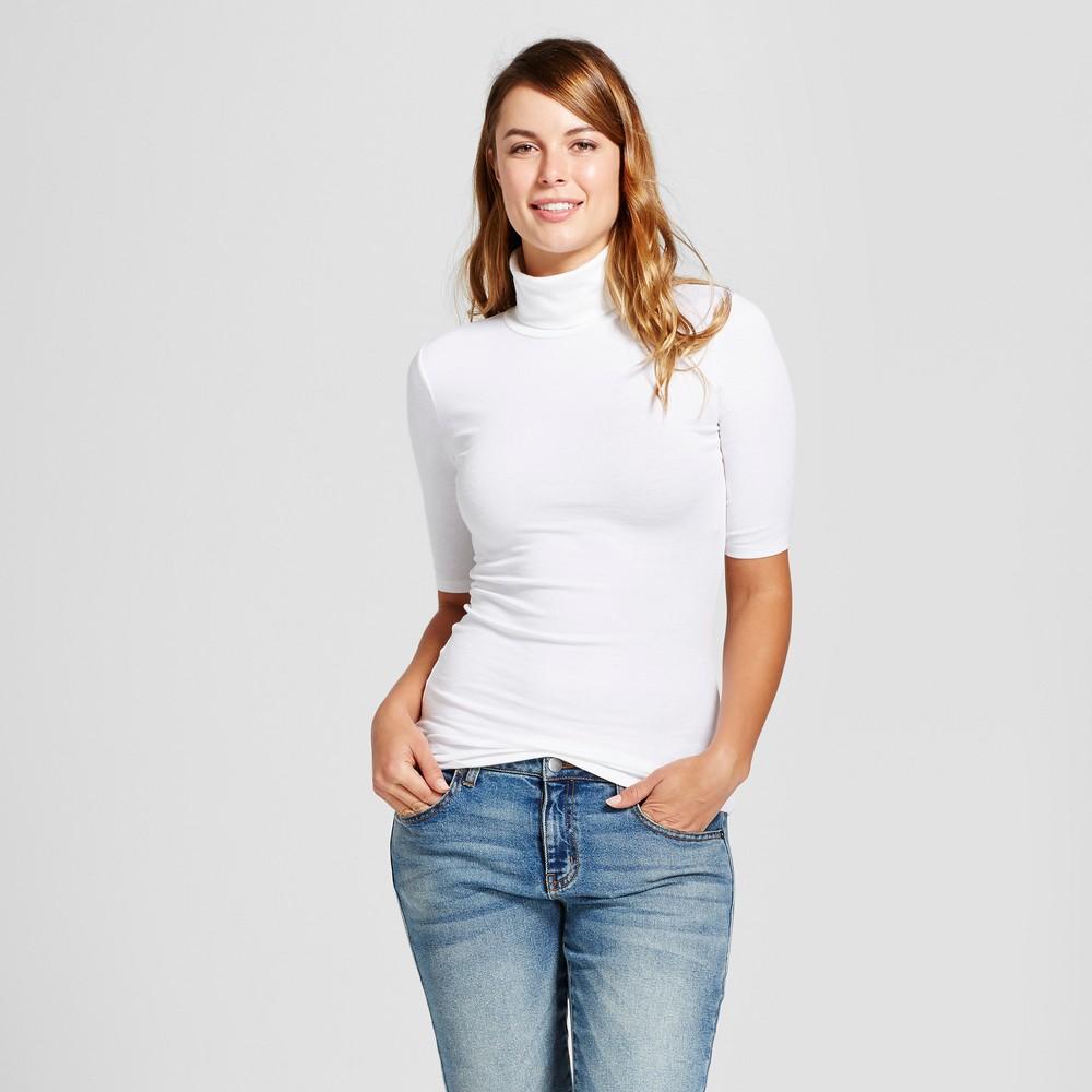 Womens Elbow Turtleneck - A New Day White XS