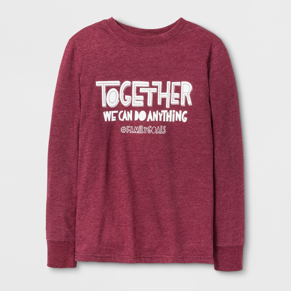 Boys Long Sleeve T-Shirt - Cat & Jack Burgundy L, Red