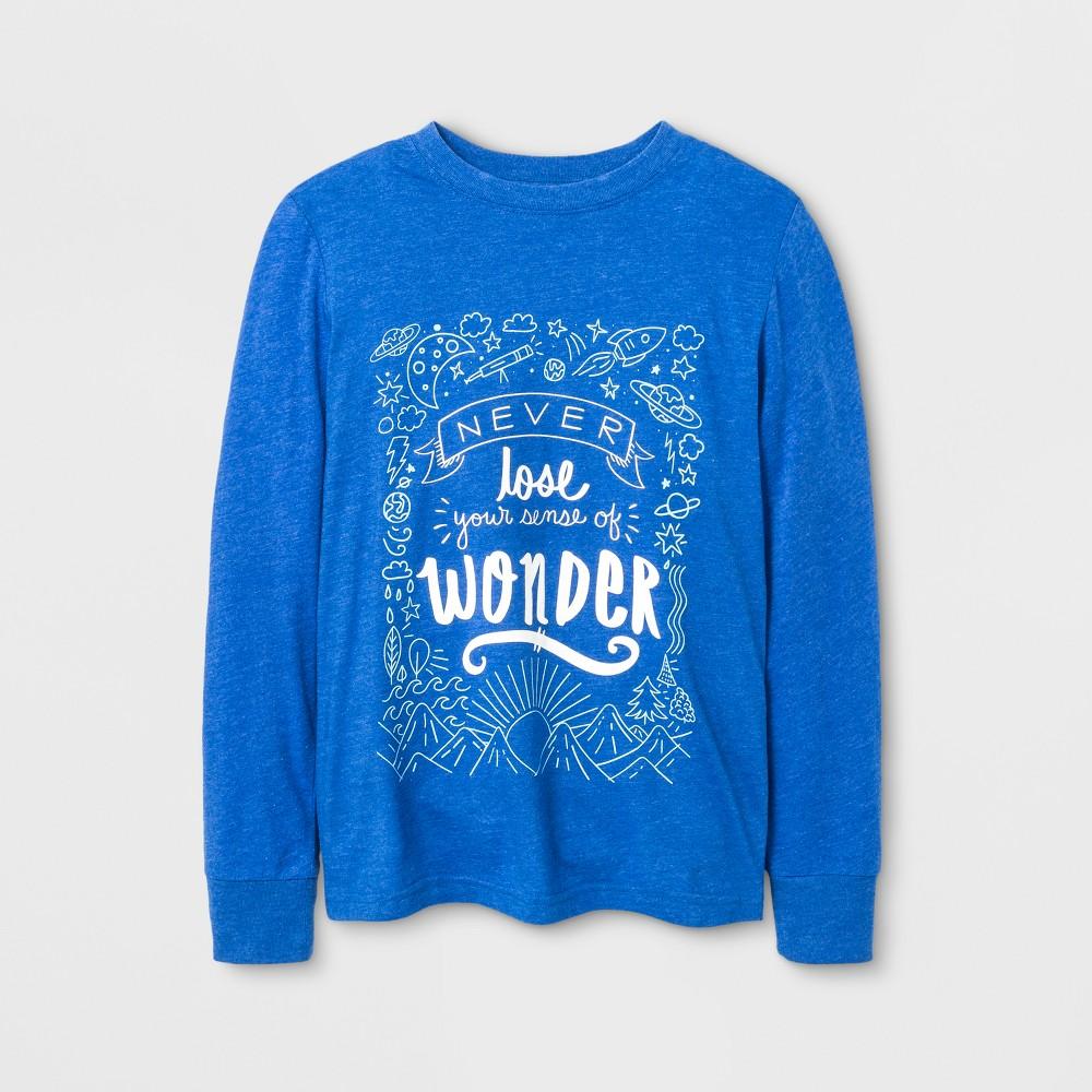 Boys Long Sleeve T-Shirt - Cat & Jack Blue L