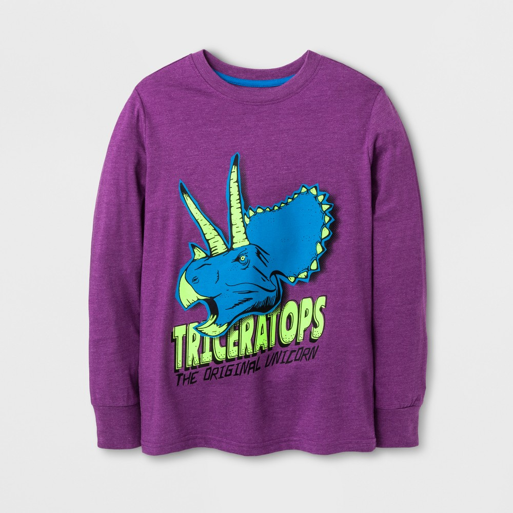 Boys Long Sleeve T-Shirt - Cat & Jack Purple XL