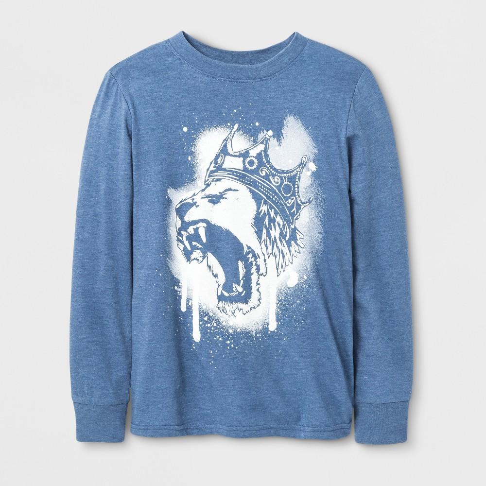 Boys King Lion Long Sleeve T-Shirt - Cat & Jack Blue XL
