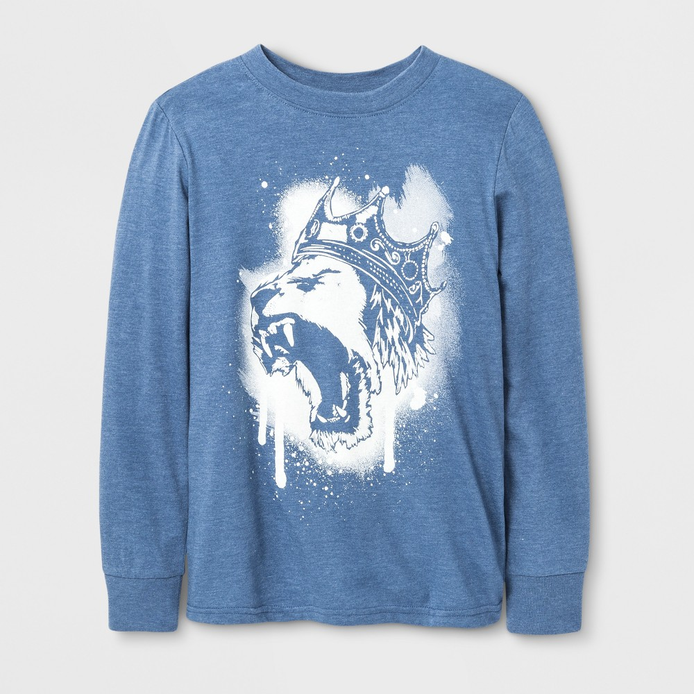 Boys King Lion Long Sleeve T-Shirt - Cat & Jack Blue XS