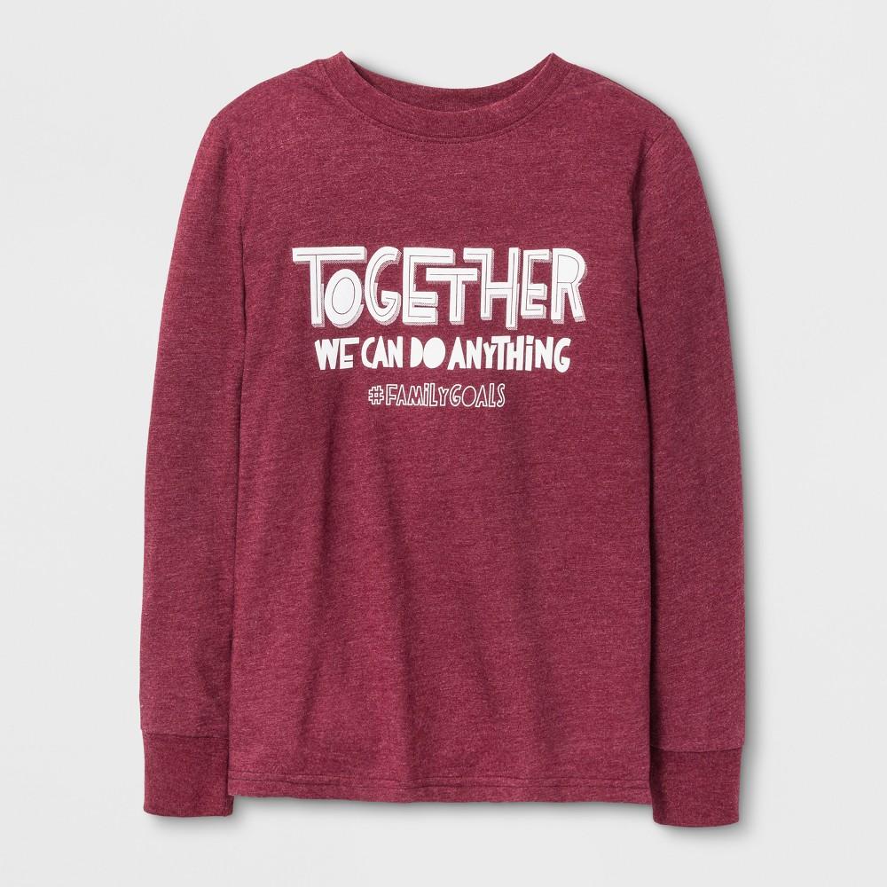 Boys Long Sleeve T-Shirt - Cat & Jack Burgundy XS, Red