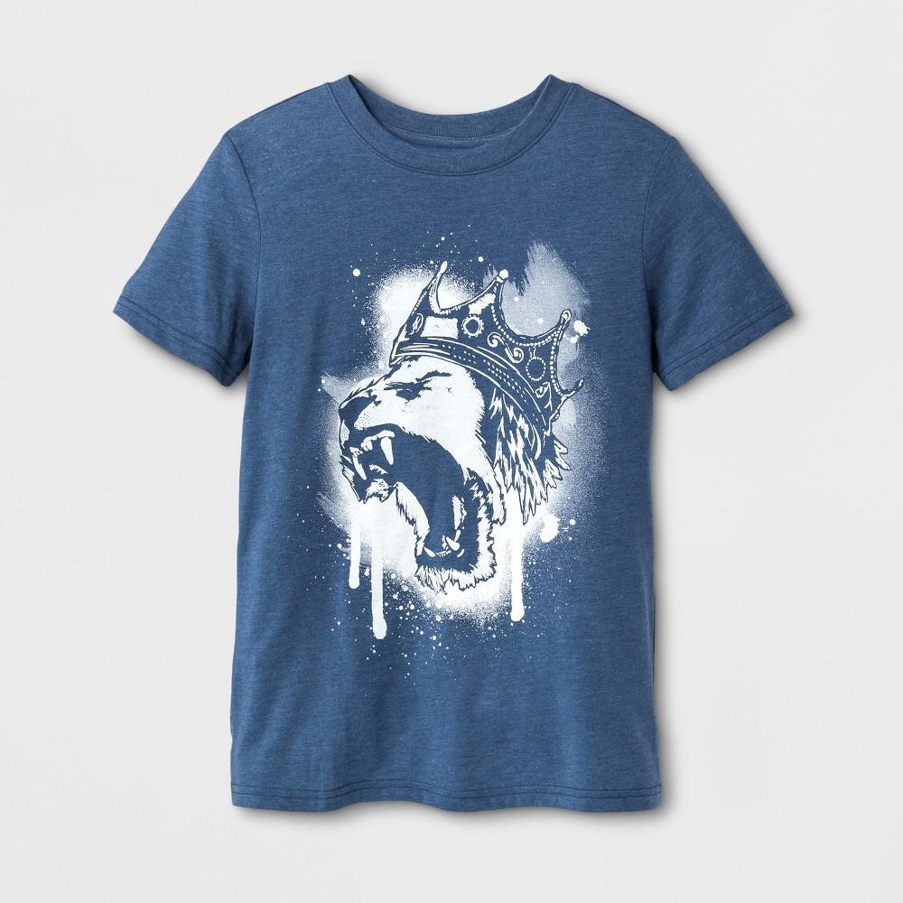 Boys King Lion Long Sleeve T-Shirt - Cat & Jack Blue L