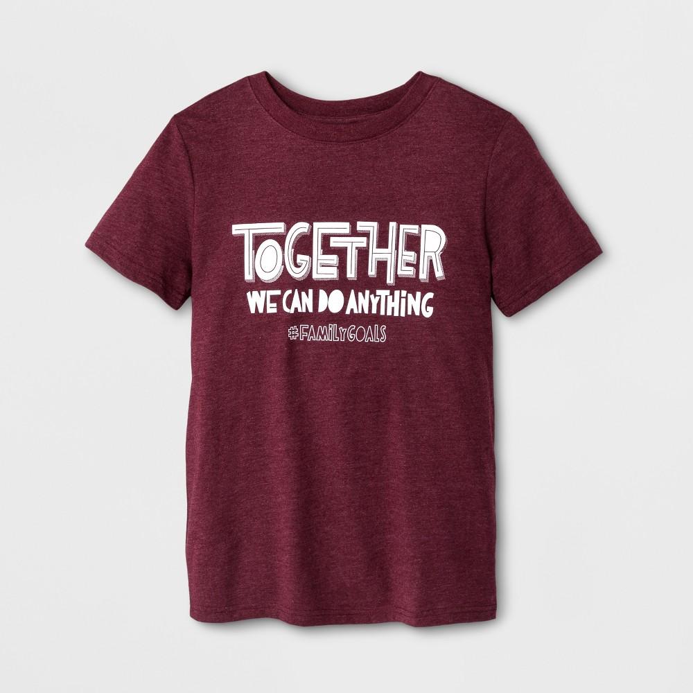 Boys Short Sleeve T-Shirt - Cat & Jack Burgundy L, Red