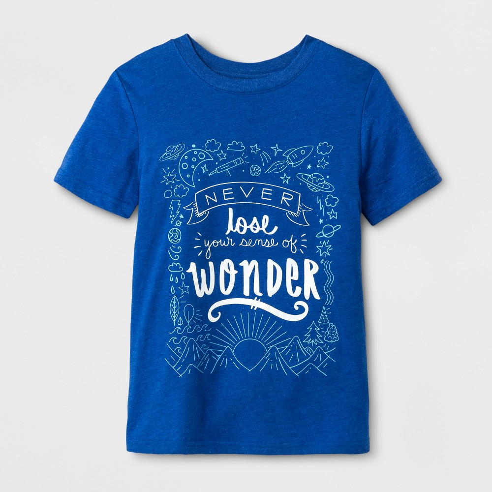 Boys Short Sleeve T-Shirt - Cat & Jack Blue XS