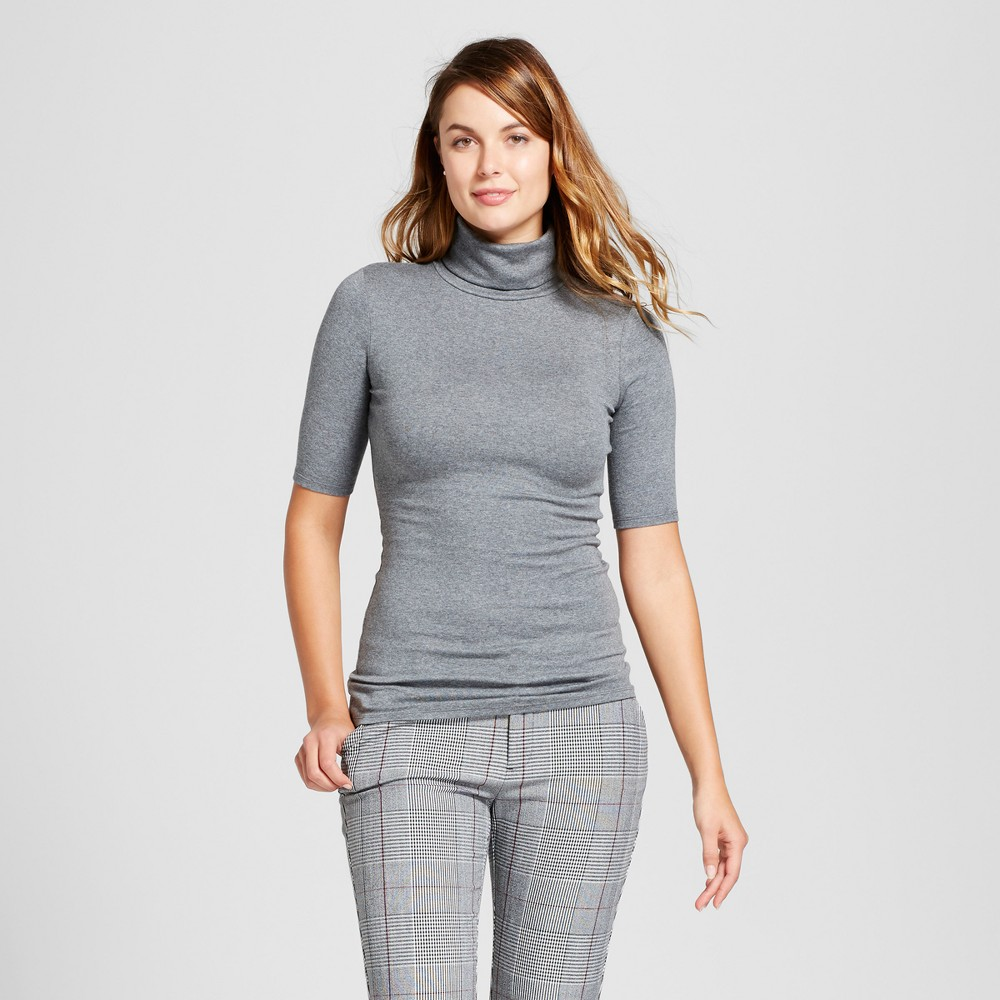 Womens Elbow Turtleneck - A New Day Gray XL