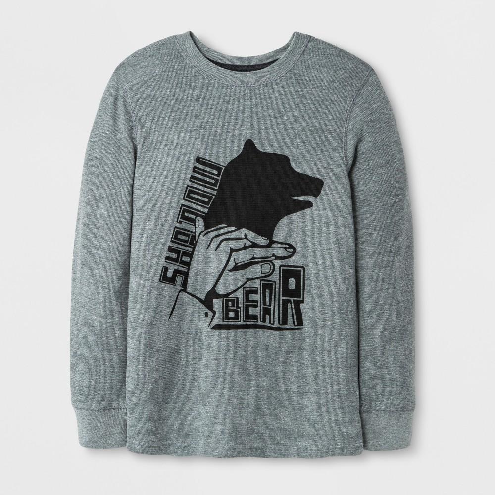 Boys Long Sleeve T-Shirt - Cat & Jack Gray XL