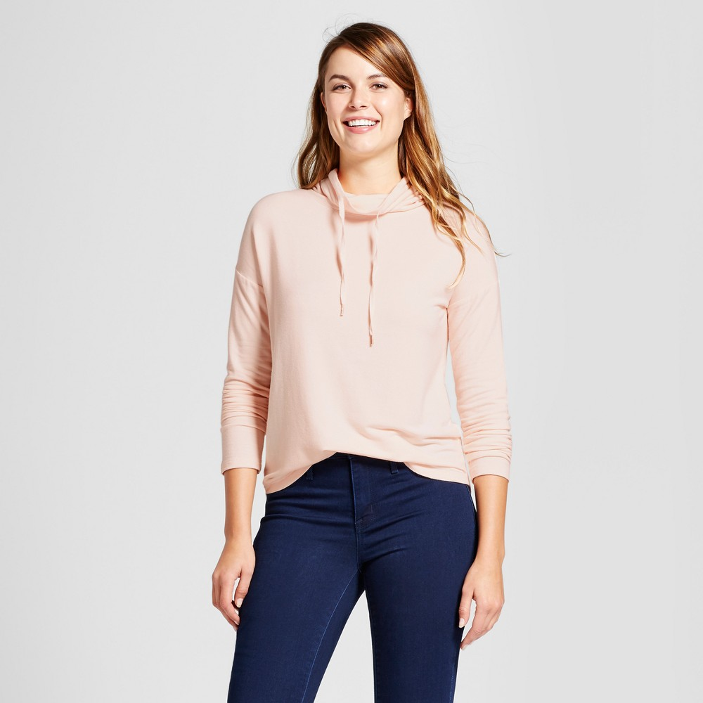 Womens Cozy Cowl Tunic - A New Day Peach (Pink) L