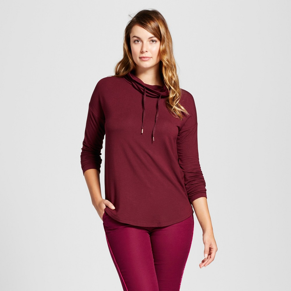 Womens Cozy Cowl Tunic - A New Day Berry (Pink) S