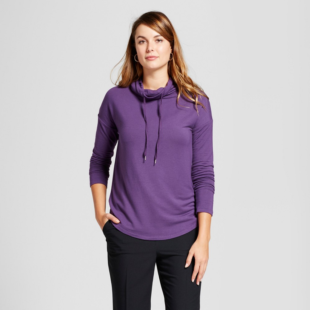 Womens Cozy Cowl Tunic - A New Day Violet (Purple) XL
