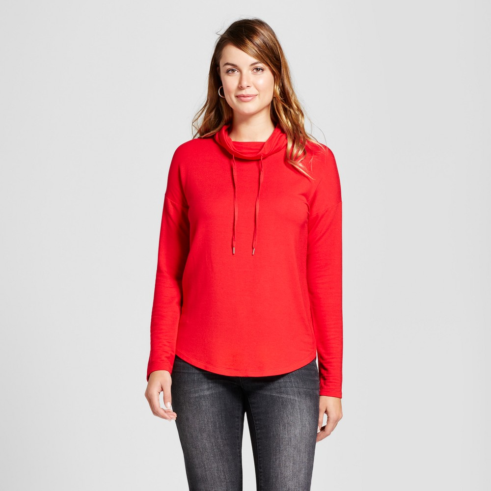 Womens Cozy Cowl Tunic - A New Day Red XL