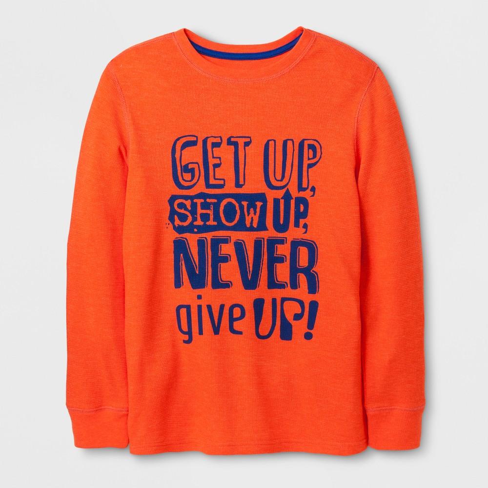 Boys T-Shirt - Cat & Jack Orange Zing L