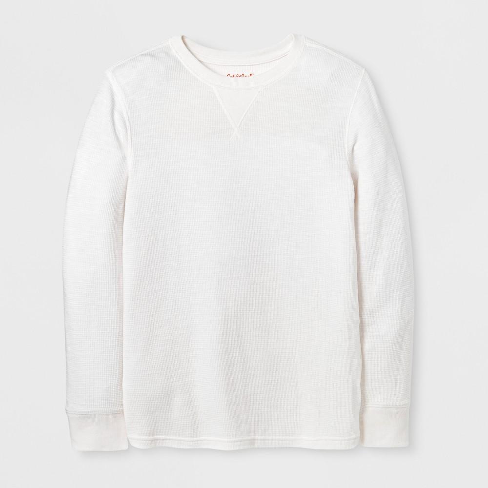 Boys T-Shirt - Cat & Jack Almond Cream S, White