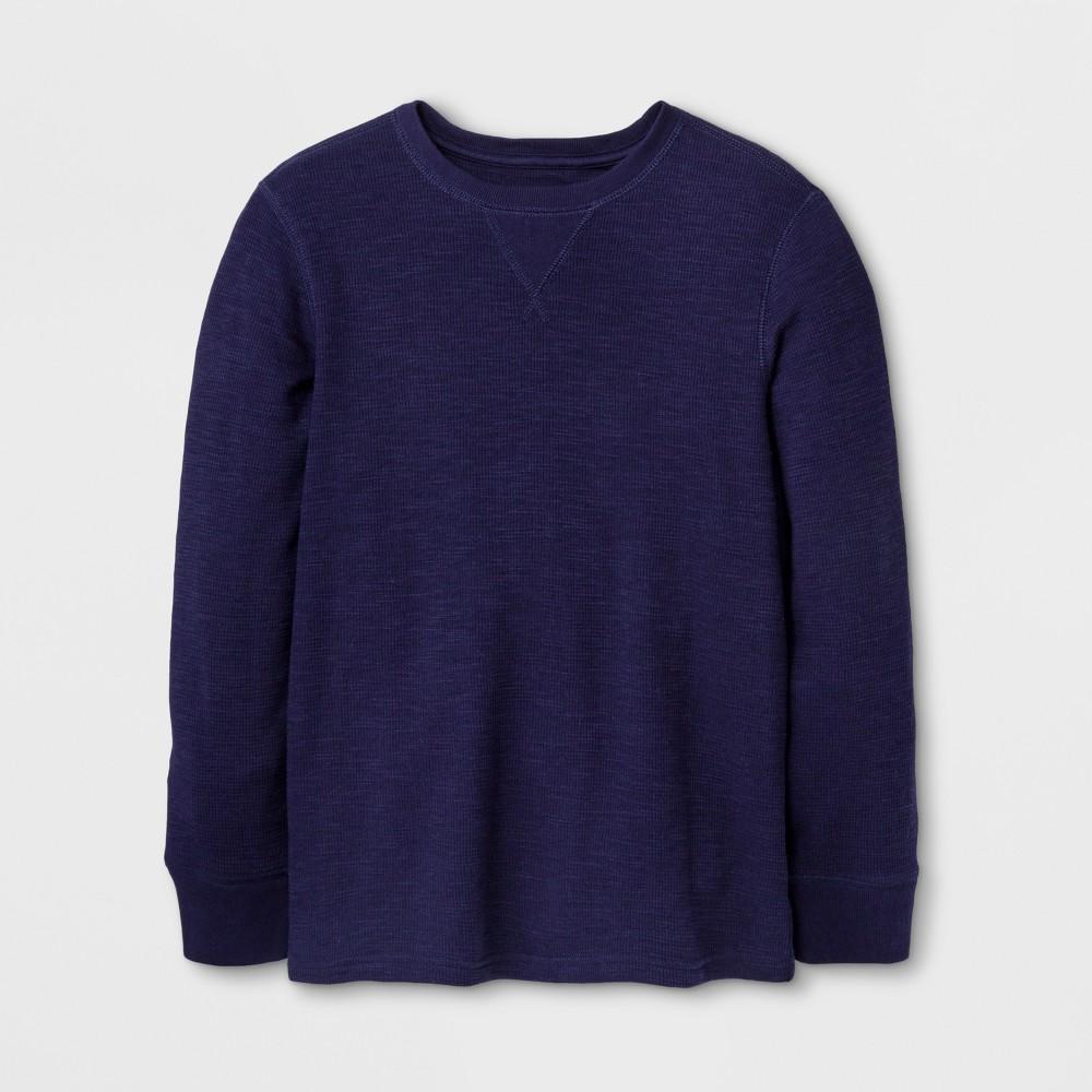 Boys Long Sleeve T-Shirt - Cat & Jack Navy XL, Blue