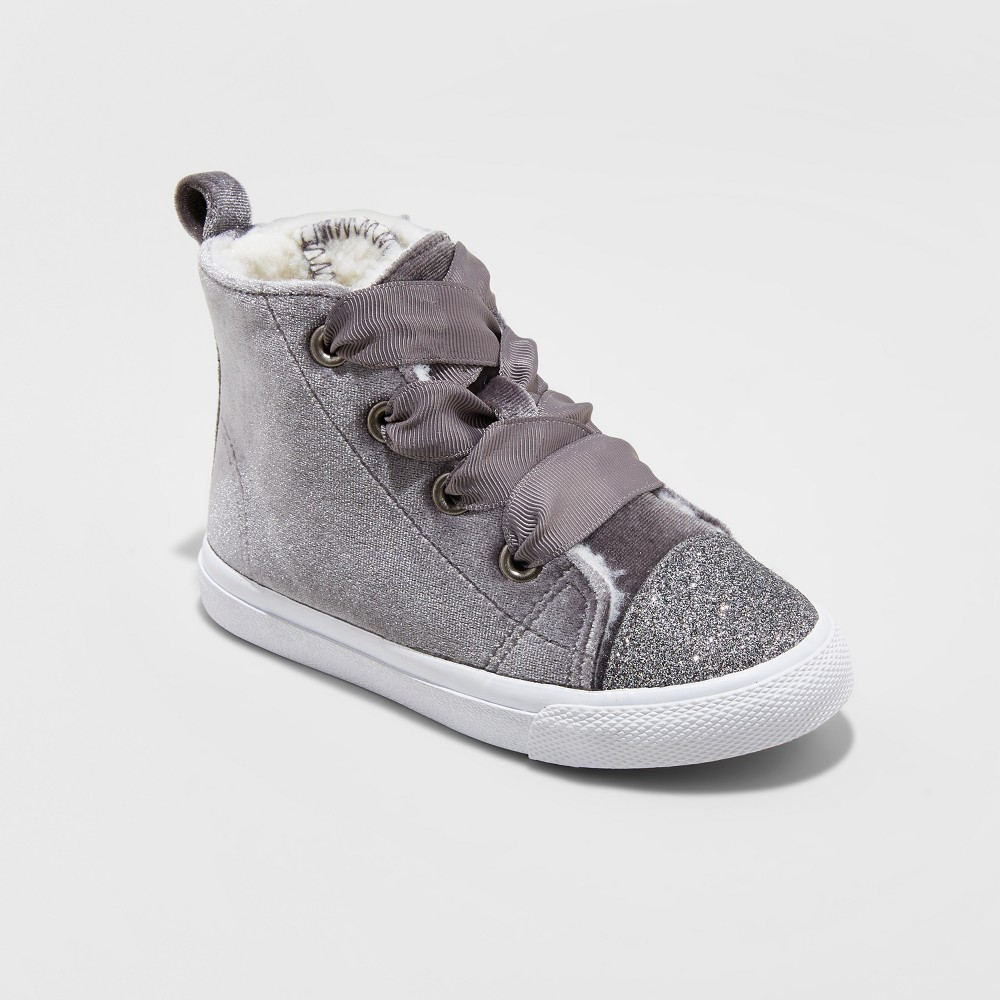 Toddler Girls Hayleigh High Top Sneakers Cat & Jack - Gray 8