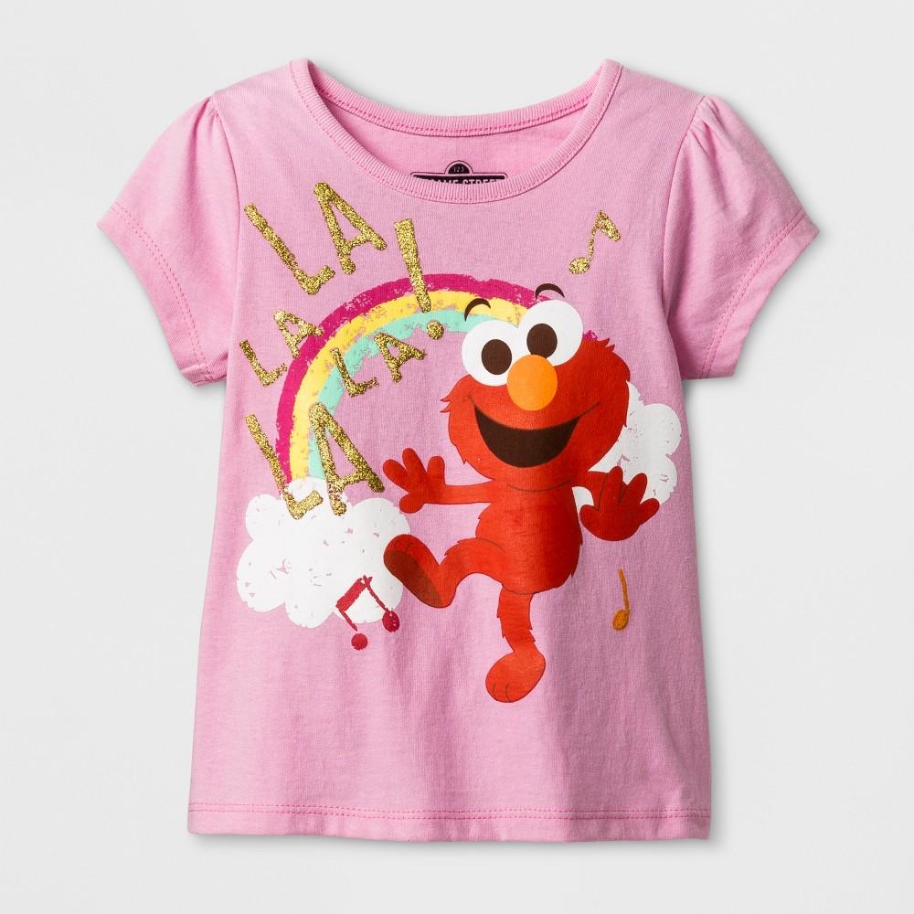 Toddler Girls Sesame Street Elmo T-Shirt - Pink 3T