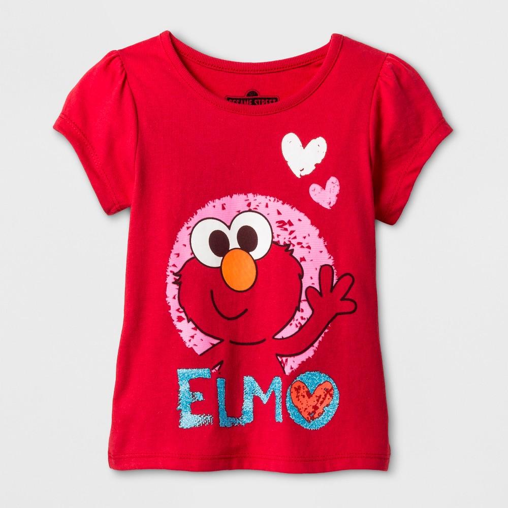 Toddler Girls Sesame Street Elmo T-Shirt - Red 3T