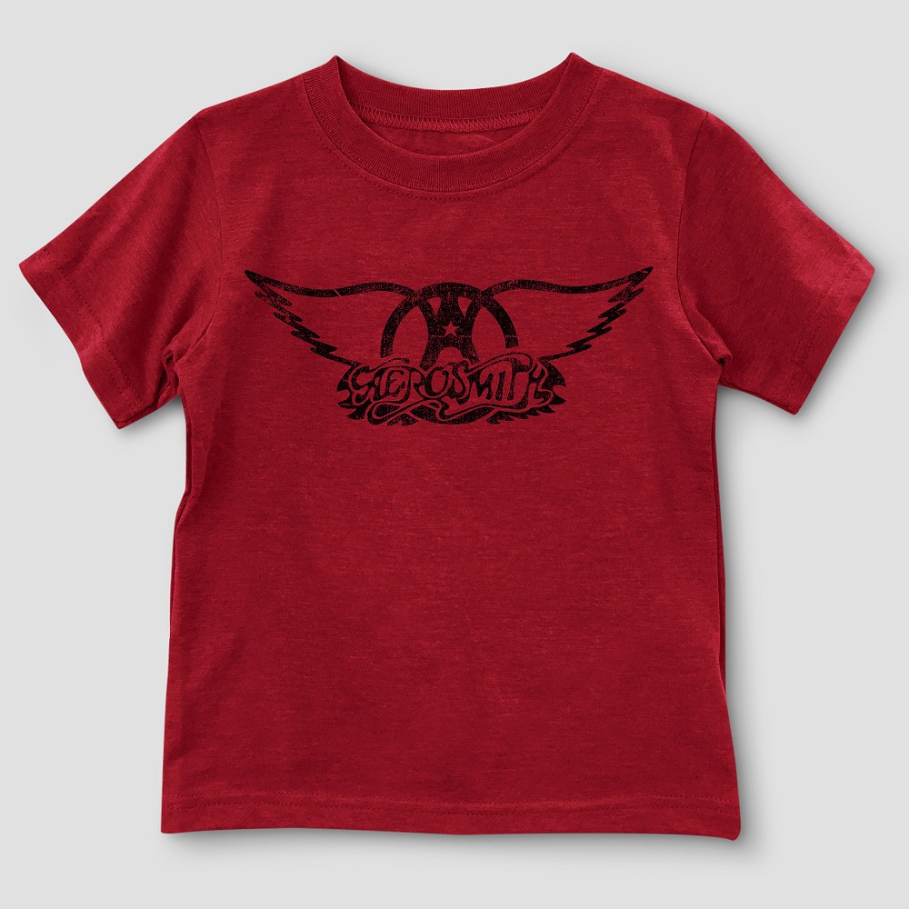 Toddler Boys Aerosmith Short Sleeve T-Shirt - Red Heather 18M