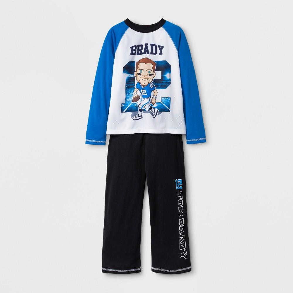 Tom Brady Boys' 2pc Pajama Set - Navy L, Multicolored