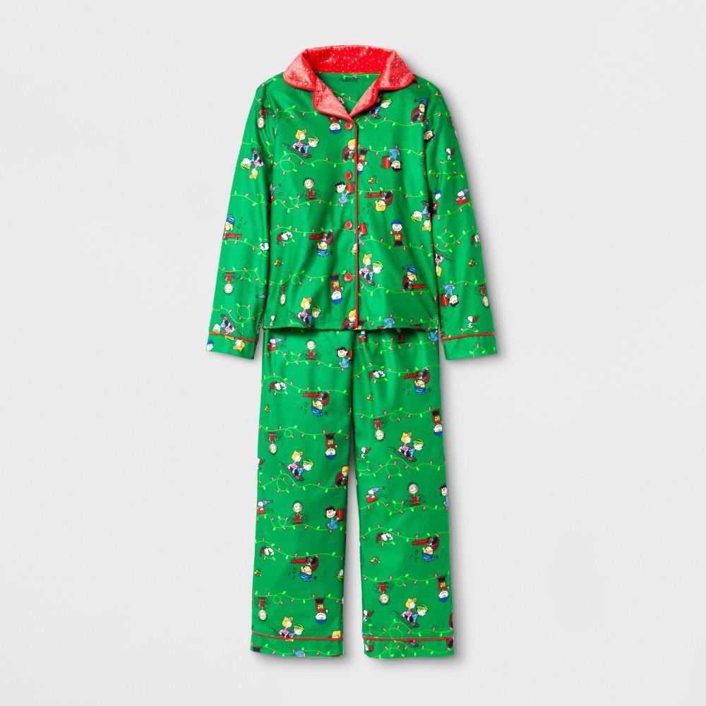 Toddler Girls Peanuts Holiday Pajama Set - Green S