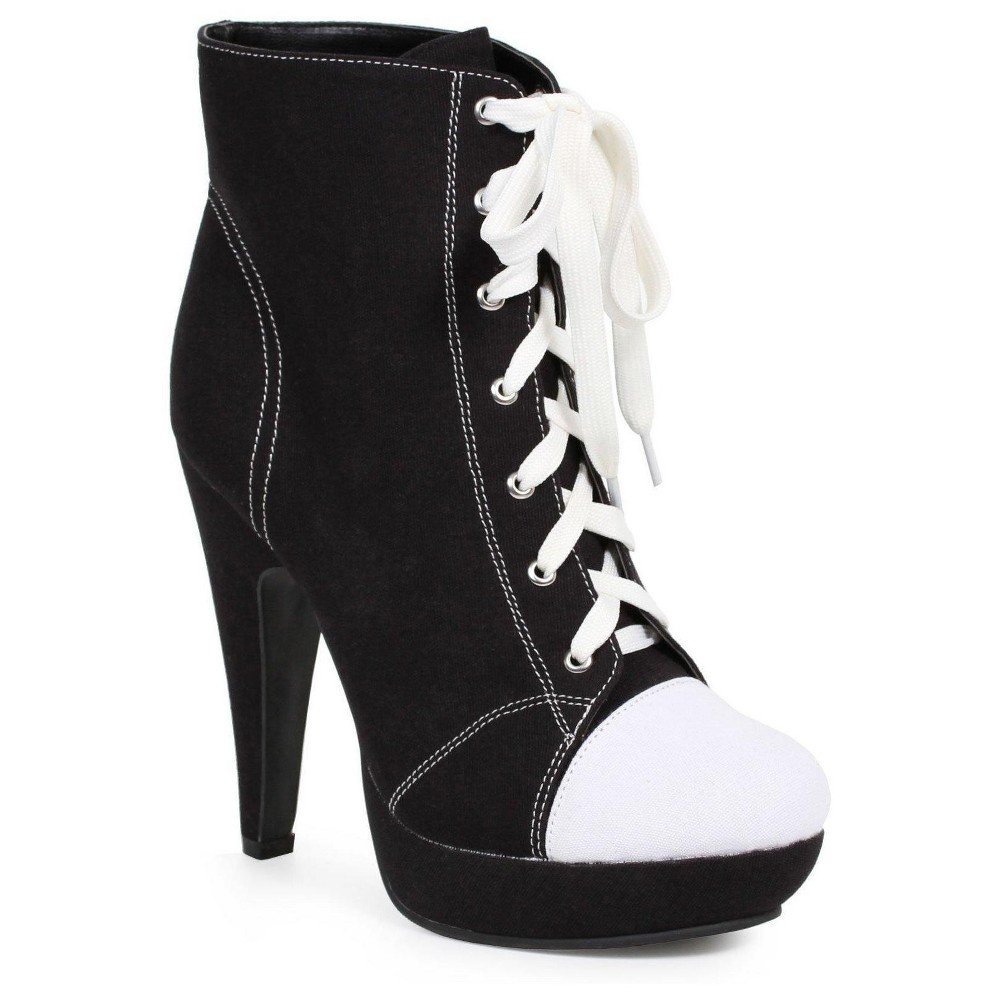 Black Athletic Costume Ankle Boots 8, Womens, Size: 7 Shoe