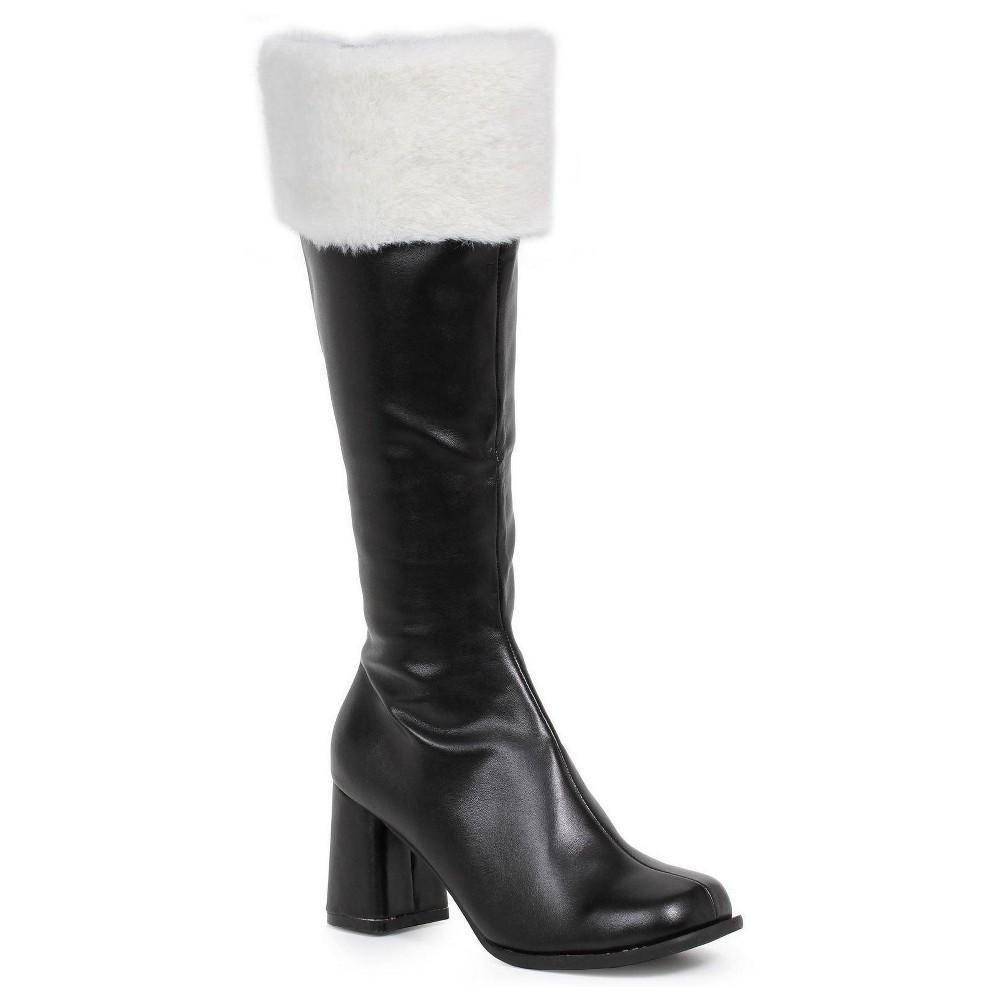 Black Gogo Costume Boots with Faux Fur 7, Womens, Size: 10 Shoe