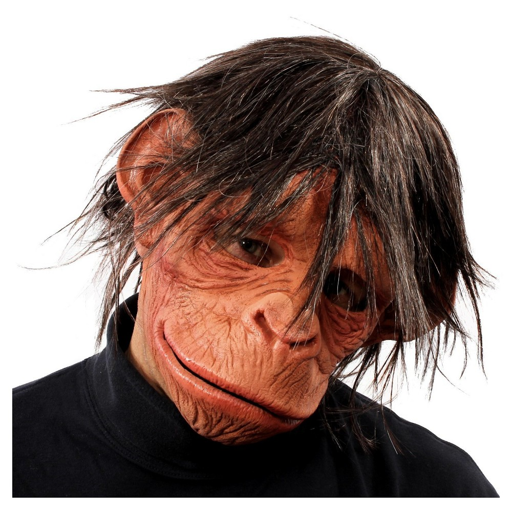 Hey Hey Here is a Monkey Full Mask with Hair, Adult Unisex, Multi-Colored