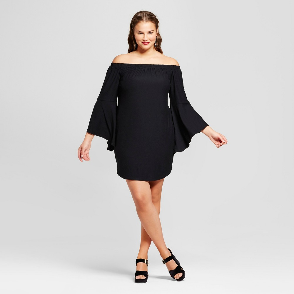 Women's Plus Size Off the Shoulder Dress - No Comment Black 1X