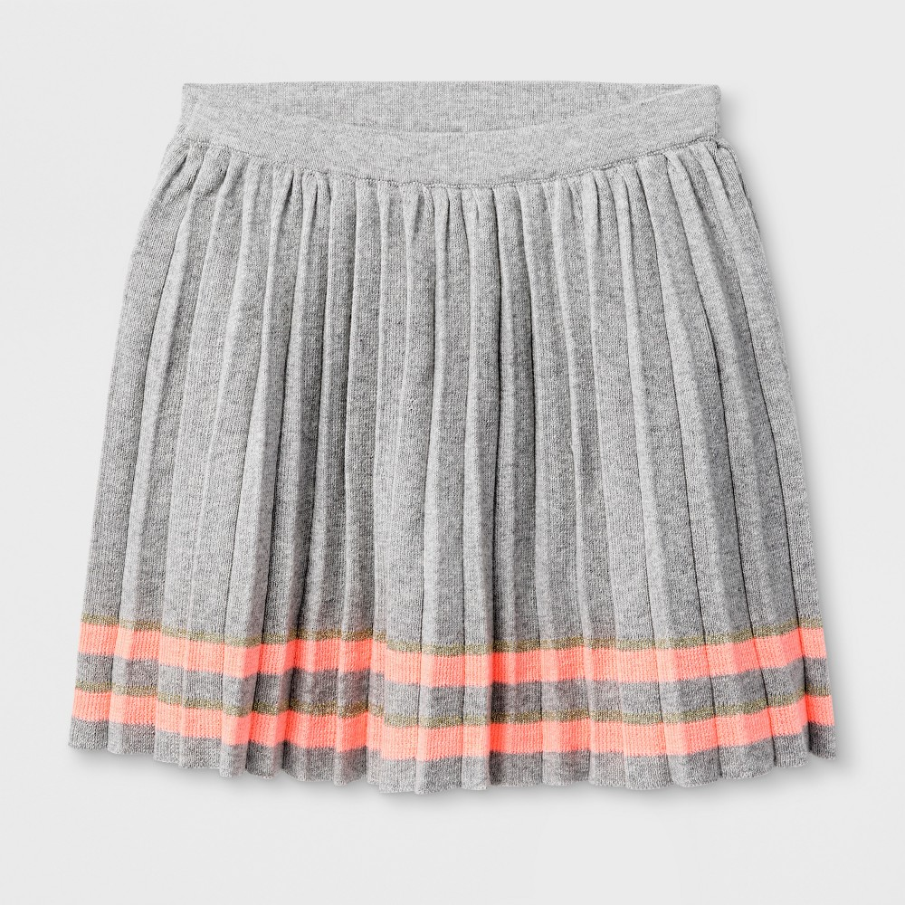 Girls Pleated Sweater Skirt - Cat & Jack Gray L
