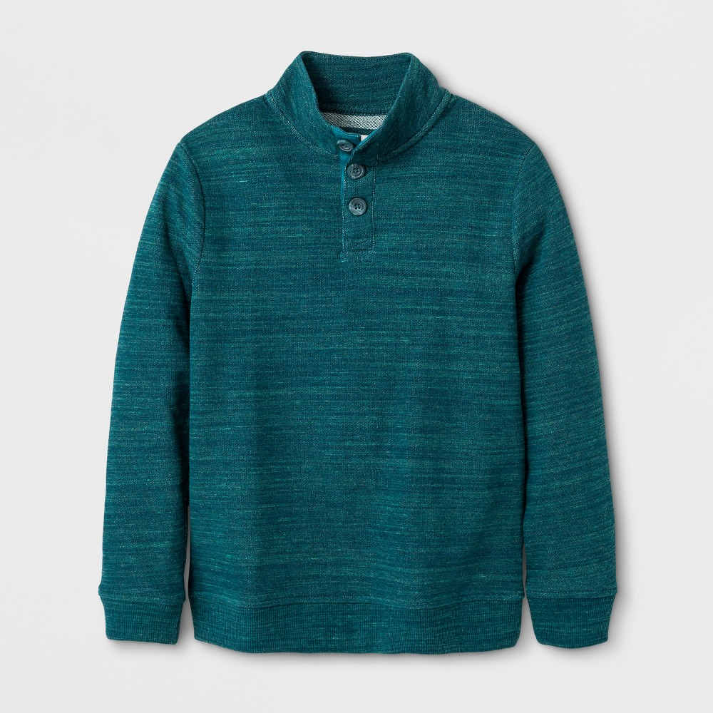 Boys Pullover Sweater - Cat & Jack Green Heather XS