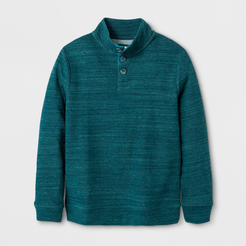 Boys Pullover Sweater - Cat & Jack Green Heather M