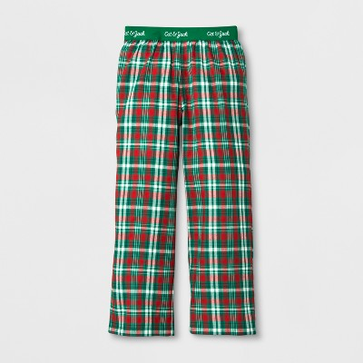 Boys' Plaid Pattern Pajama Pants - Cat & Jack™ Green L