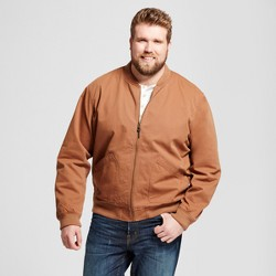 Men's Big & Tall Standard Fit Vintage Bomber Jacket - Goodfellow & Co™ Brown
